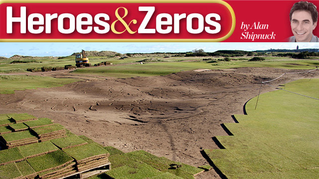 The second round of changes to the Old Course at St. Andrews began on November 4.