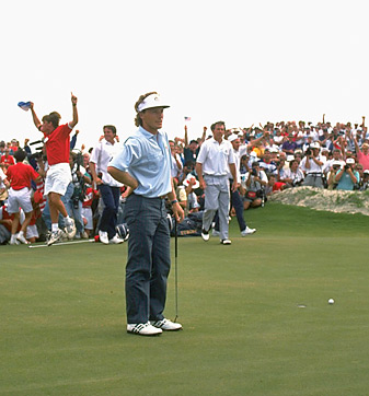 The 1991 Ryder Cup ended with Bernhard Langer's missed six-footer, which capped a tense week.