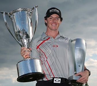 Rory McIlroy has won two of the three events in the FedEx playoffs.