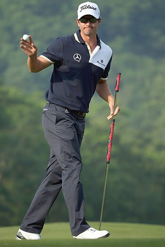Adam Scott is among the players who have had success using a long putter anchored to his body during the stroke.