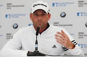Sergio Garcia apologized for the insensitive remark he made about Tiger Woods at an awards dinner.
