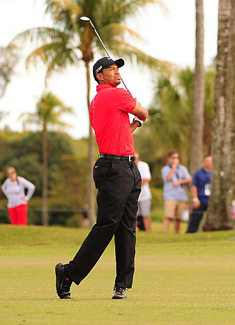 Tiger Woods earned his 76th career PGA Tour title with a two-shot victory at Doral.