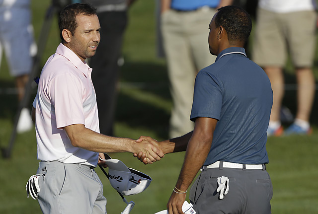 Garcia and Woods completed the third round early Sunday morning.