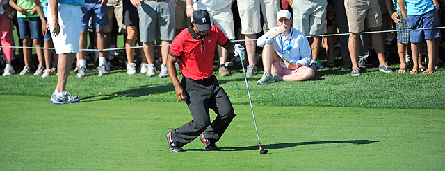 Tiger Woods battled back spasms while finishing second at the Barclays.