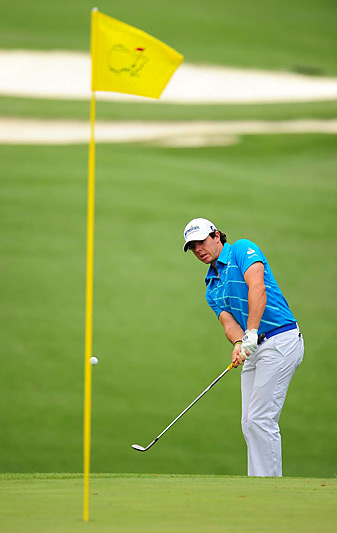 Rory McIlroy shot a one-under 71 in the opening round at the Masters.