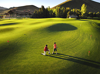 The Sawtooth Putting Course in Sun Valley, Idaho.