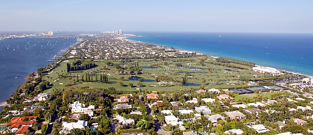 Bernie Madoff preyed on the members of Palm Beach Country Club on the island of Palm Beach.
