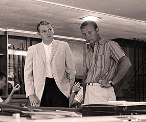 Mark McCormack, left, and Arnold Palmer in August 1965.