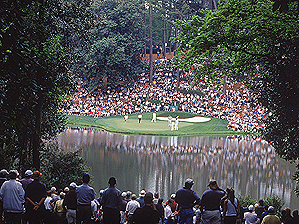 """Cobb's work on the Par 3 Course at Augusta National is enjoyed every year by the patrons and players alike. <span class=""""picturesource"""">Getty Images</span>"""