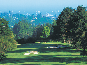 The first hole at Pasatiempo Golf Club in Santa Cruz, California.