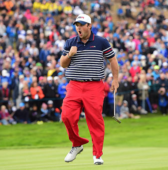 Patrick Reed was one of the few bright spots for the Americans at Gleneagles.