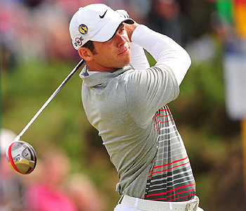 Paul Casey stayed warm and dry wearing Nike Sphere tops under his polo shirts.