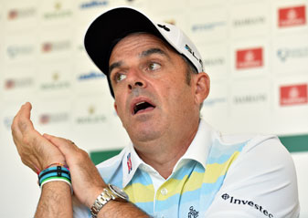 European Ryder Cup captain Paul McGinley addresses the media prior to the Italian Open.