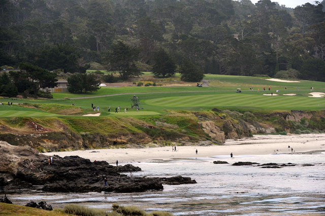 The 10th hole at Pebble Beach.