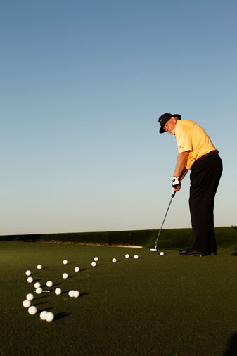 """Hit"" two putts on every hole: Roll a practice one in your mind, and then, when it counts, simply repeat what your mind imagined."