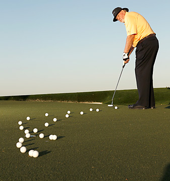 Dying putts over the high side of the hole can be as effect as charging them over the front lip.