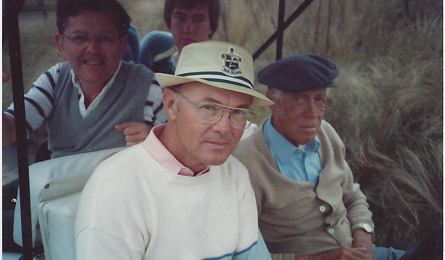 How lucky was I? (That's me in the back right.) I hung around accomplished players like Turley (back left), my father (front, left) was a golf instructor, and when he couldn't fix a flaw, he sent me to Harvey for help.