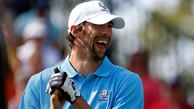 Michael Phelps at the 2012 Ryder Cup