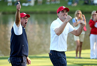 Keegan Bradley paired well with Phil Mickelson in the 2012 Ryder Cup en route to a 3-1-0 record.