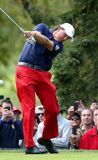 Phil Mickelson is 11-17-6 in his career at the Ryder Cup.