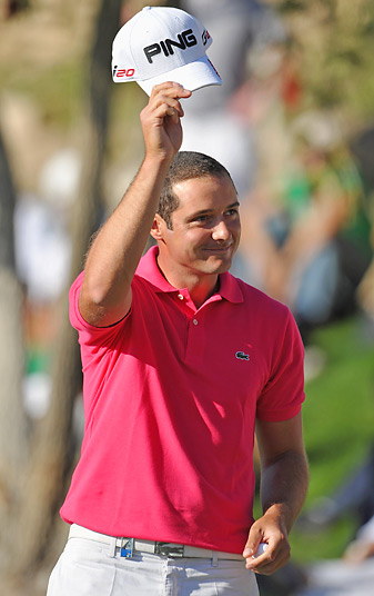 Julien Quesne tied the course record with an 8-under 64 on Sunday.