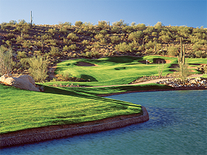 You'll need a Hail Mary pass to survive the finishing hole at Sunridge Canyon