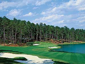 The ninth hole at Reynolds Plantation's Bluff's Course.
