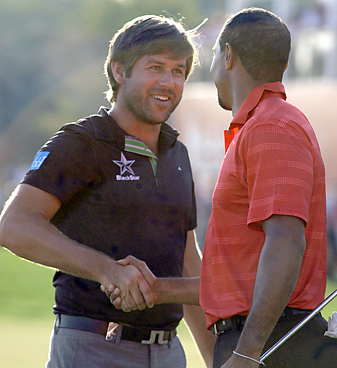 Robert Rock has enjoyed a new level of stardom since beating Tiger Woods in Abu Dhabi.