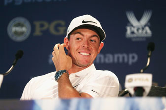 Rory McIlroy addressed the media at Valhalla on Tuesday prior to the start of the 2014 PGA Championship.