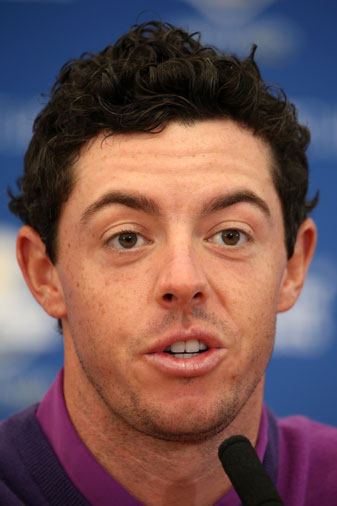 Rory McIlroy addressed the media at a press conference at Gleneagles on Wednesday.