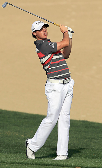 Rory McIlroy made six birdies during a seven-hole stretch on Thursday.