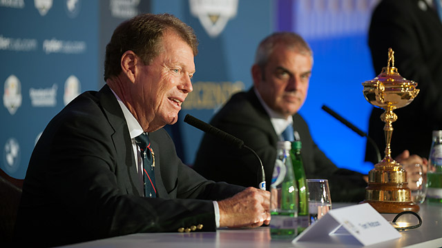 Team USA's Tom Watson and Team Europe's Paul McGinley each have three wild-card selections.