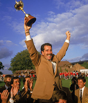 Sam Torrance was the man of the hour Sunday at The Belfry.