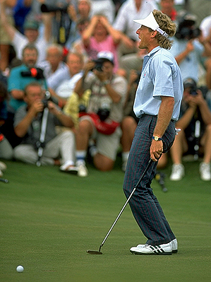 Europe's Bernhard Langer missed a putt on the final hole of the 1991 Ryder Cup that gave the United States a victory in the War on the Shore.
