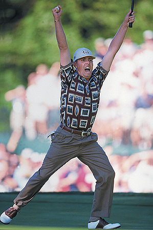 Justin Leonard's putt on the 17th hole in 1999 set the American team into a frenzy.