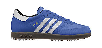 Adding six spikes to the sole of the classic Adidas Samba makes the iconic shoe course-ready.
