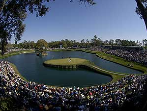 The 17th Hole at TPC Sawgrass, a Pete Dye design, is one of the most famous holes in the world.