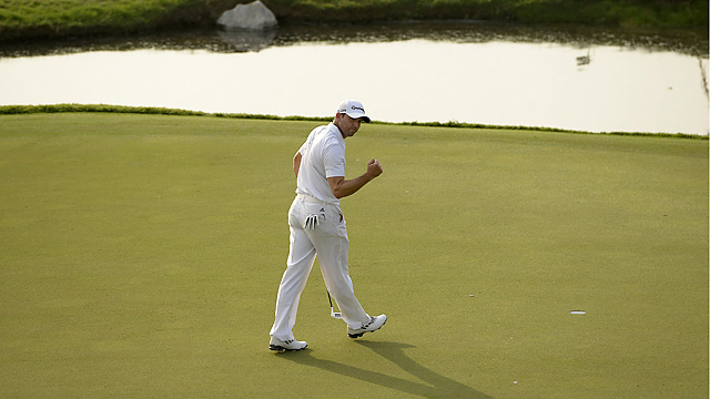 Sergio Garcia shot a 65 in the third round in Thailand.