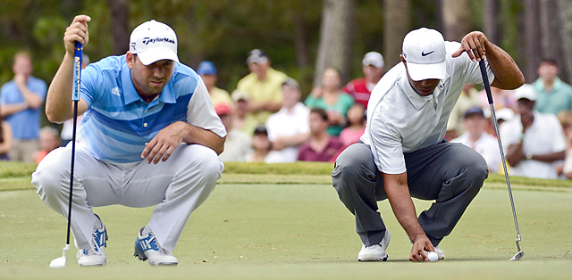 Garcia and Woods played together during a contentious third round at the Players Championship.