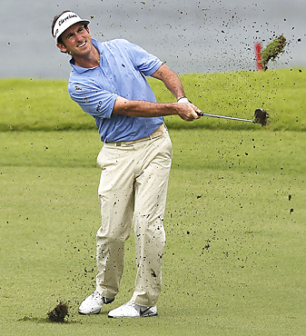 Gonzalo Fernandez-Castano won a soggy Singapore Open on the second hole of a Monday playoff.