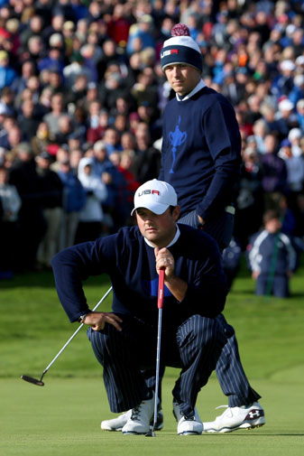 Jordan Spieth and Patrick Reed will be back in action for Team USA on Saturday.