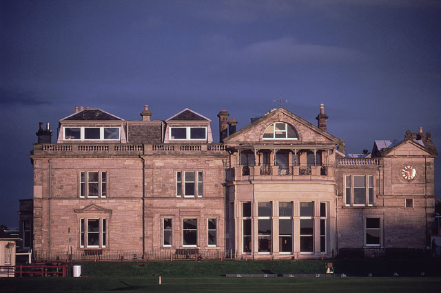 The clubhouse of the Royal and Ancient Golf Club at St. Andrews.