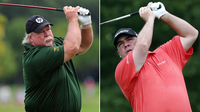 With their almost identical swings and physiques, it's not surprise Kevin can't escape Craig's shadow.