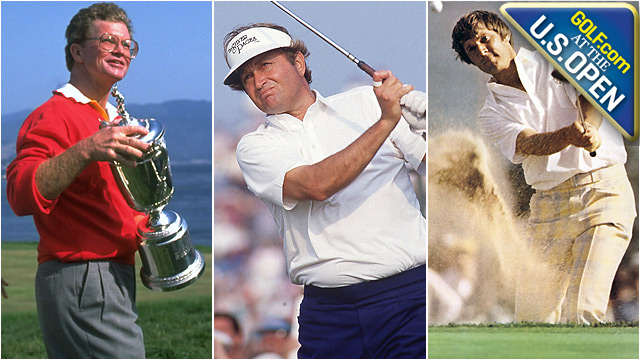 Tom Kite (shown at his U.S. Open triumph in 1992), Ray Floyd (1986) and Andy North (1978) know what it's like to win a U.S. Open.