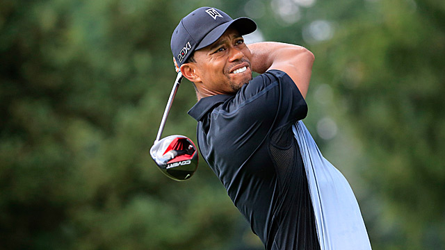Tiger Woods opened with a strong four-under 66.