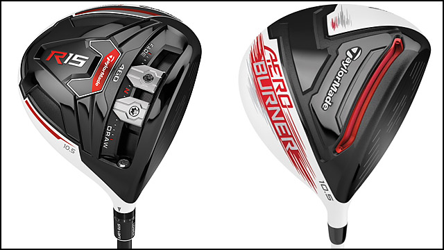 TaylorMade R15 Driver; TaylorMade AeroBurner Driver