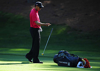 Tiger Woods Sunday at Augusta National.