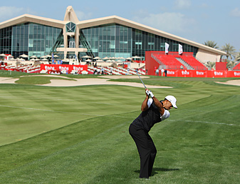 This week Tiger Woods is skipping Torrey Pines for an event in Abu Dhabi.