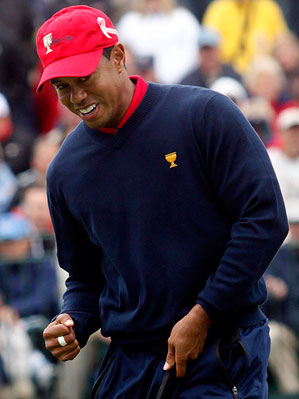 Tiger Woods Sunday at 2009 Presidents Cup