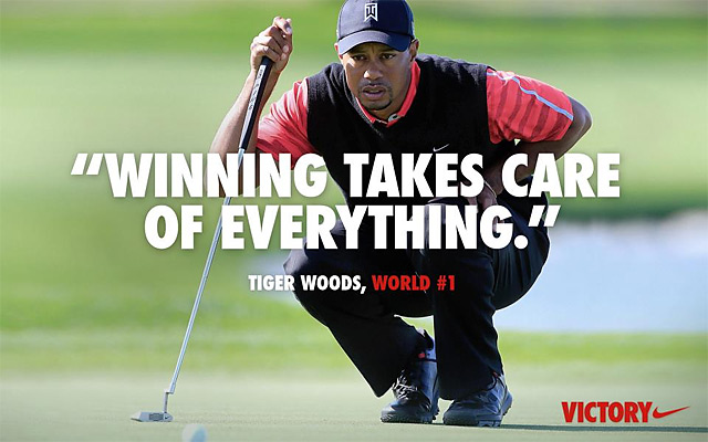 Nike unveiled this ad after Woods's victory at Bay Hill.